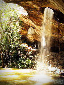 Fountain in Cave during Dayrtime
