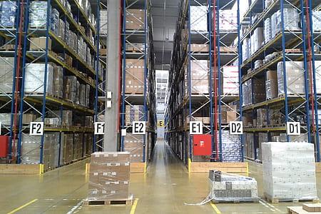 blue steel industrial shelf