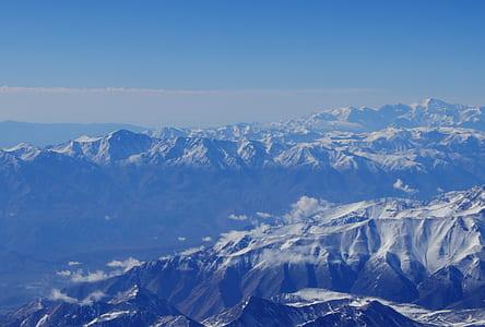 landscape photo of snowy mountain range