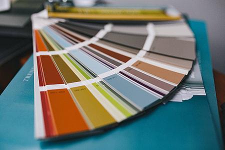Designer pattern and colour samples