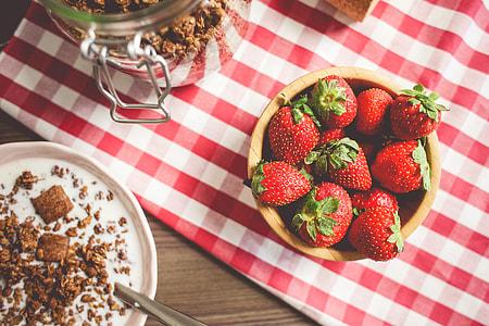 Fresh Strawberries Breakfast