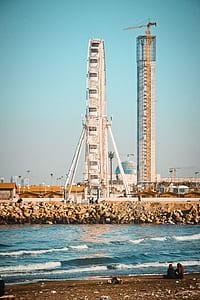 Ferris Wheel Under Blue Sky