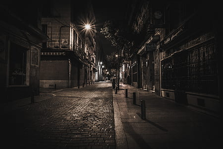 empty street during nighttime