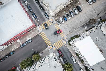Street Road Intersection From Above