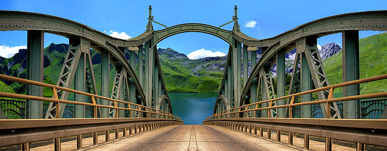 cable bridge 3D wallpaper