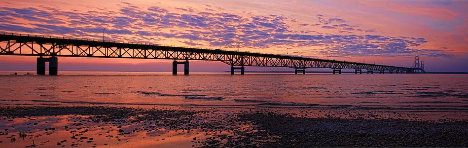 photography of bridge near sea