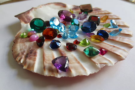 assorted-color gemstone collection