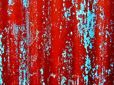 red and blue surface