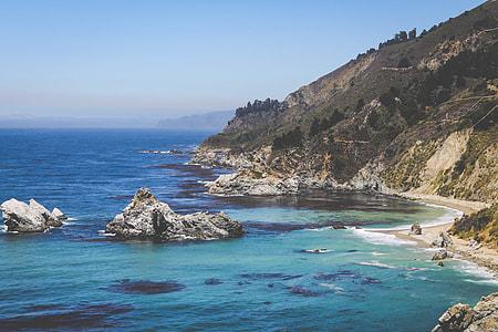 beach with coastal rocks