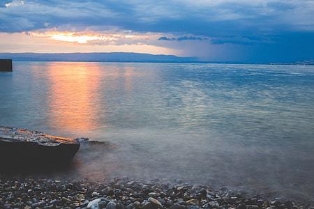 Sea Beach Sunset Stones