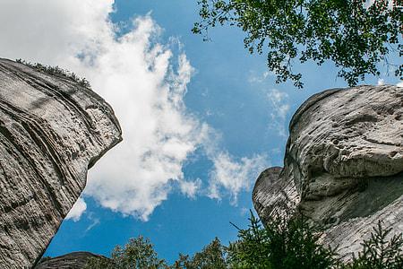 The Sky Through Adršpach-Teplice Rocks