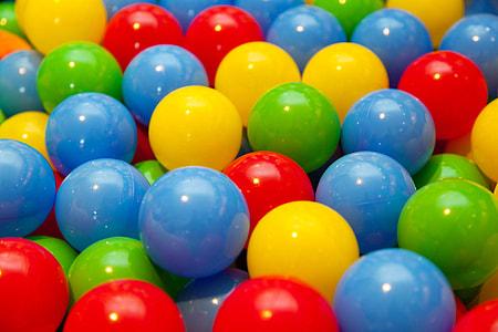 assorted-color balls
