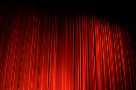 red and black stage curtain