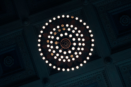 Abstract pattern from ceiling lights