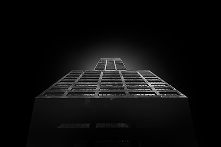 high rise building with black background