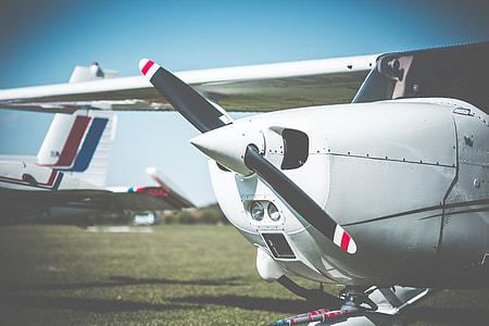 Cessna Airplane Propeller Closeup