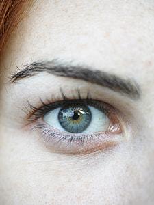woman blue eyes