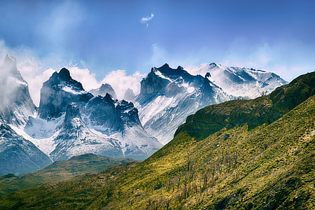 Snow-capped mountains in Chile