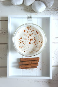 Close-up Photography of Milk with Cinnamon