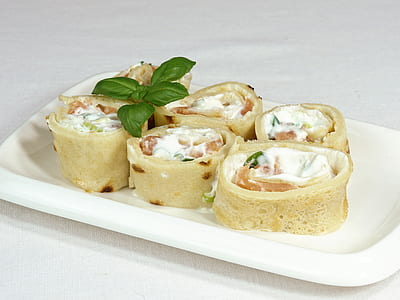 sliced foods in white ceramic plate