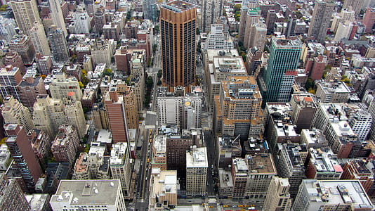 top view of city buildings during daytime
