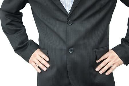 men's black coat