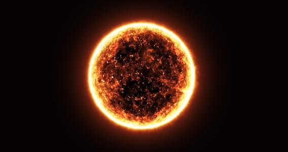 sun with sun rays