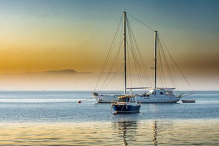 fish boat on sea