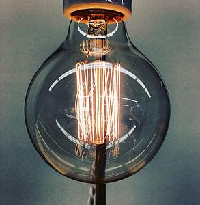 Closeup Vintage Lightbulb Idea