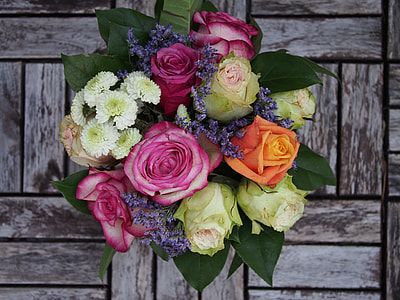 assorted bouquet of flowers