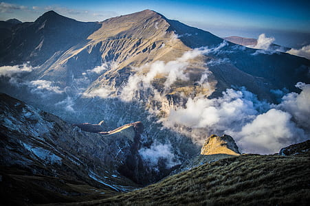 Aerial-photo of Mountain With Clouds