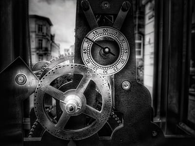 gray and black mechanical machine