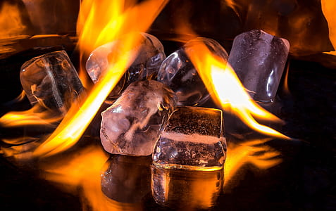 burning ice illustration