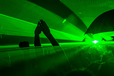party with green LED