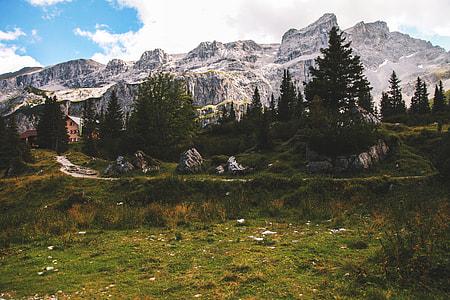 Landscape shot of Austrian Alp mountains