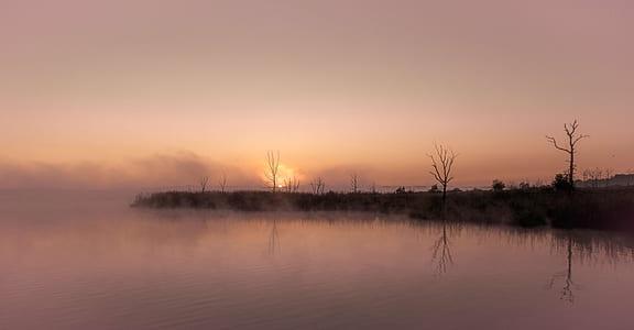 body of water during the horizon