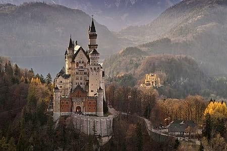 white and black concrete castle