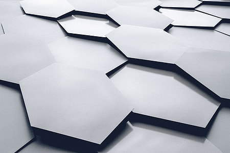Hexagon shapes abstract