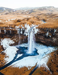 waterfalls in dessert