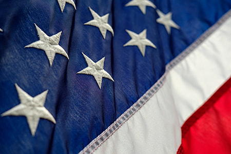 flag of America close up photo