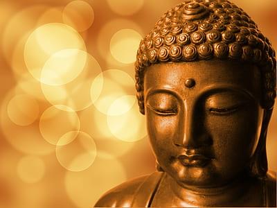 macro shot of Buddha statue