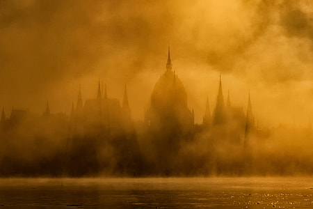 Mist in Budapest, Hungary