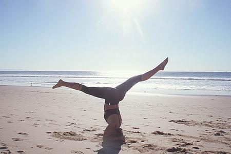 Yoga on coast