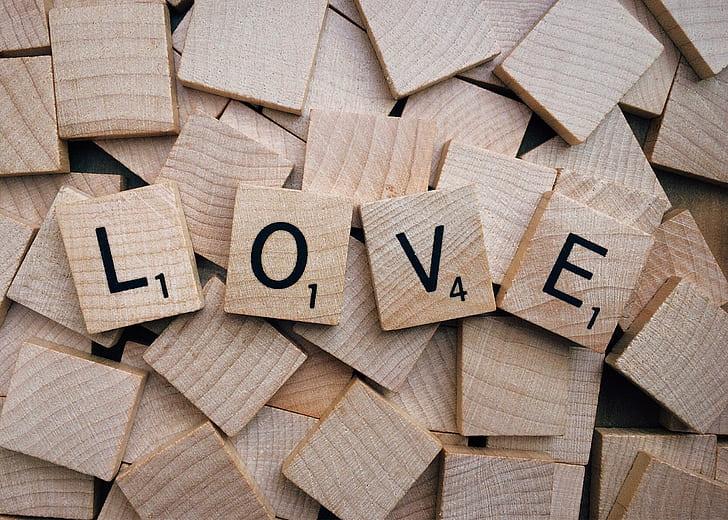 Love scrabble bits