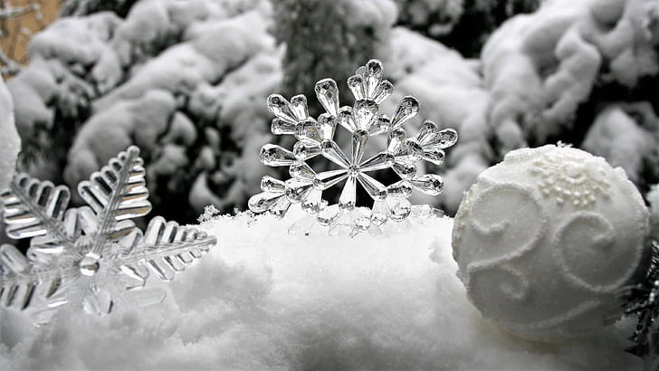 spacegray photography of Christmas ornaments