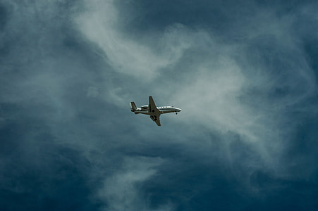low angle view of plane on sky