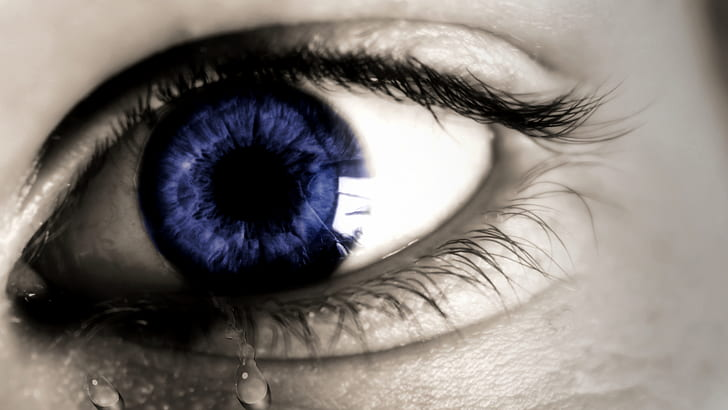 blue eye selective color photography