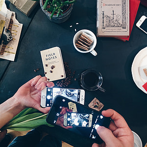 Shooting coffee with smartphones
