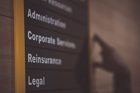 Administration Corporate Services Reinsurance Legal Labeled Board