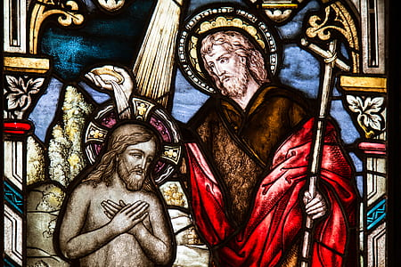 photo of religious stained glass decor
